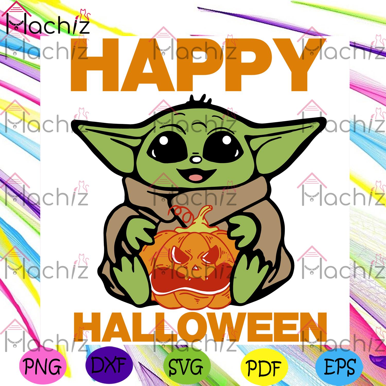 Mandalorian baby yoda svgbaby yoda halloween svg,halloween gift