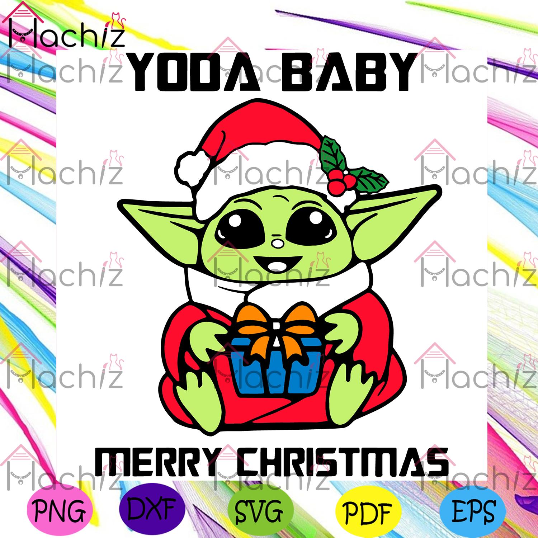 Baby yoda merry christmas christmas svg, xmas svg, christmas 2020